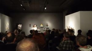 Laniya speaking at tha 'Arcadian Jam' event at 'Women and their Work'
